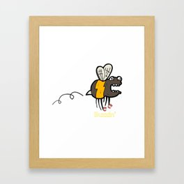 Buzzin' Bee on Caffeine Mug Framed Art Print
