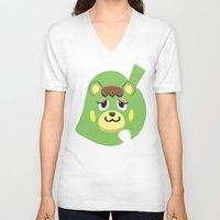 animal crossing V-neck T-shirts featuring Animal Crossing Charlise by ZiggyPasta