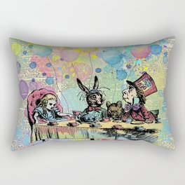 Tea Party Celebration - Alice In Wonderland Rectangular Pillow