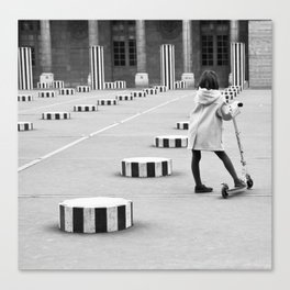 Palais Royal, Paris in Black & White Canvas Print