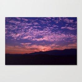 SW Mountain Sunrise - II Canvas Print