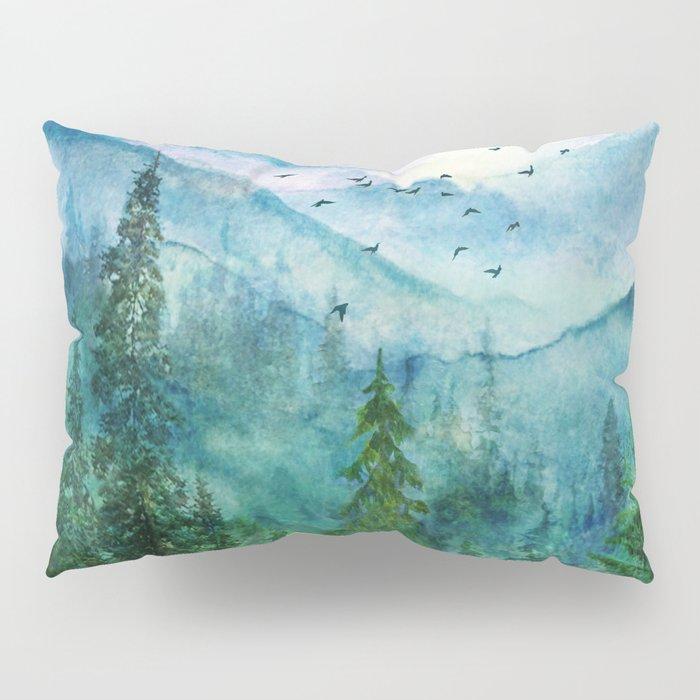 Spring Mountainscape Pillow Sham