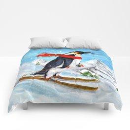Penguin Alpine Skiing Comforters
