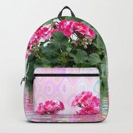 Geraniums on Display Backpack