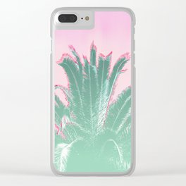 Palm Tree Leaves Tropical Vibes Design Clear iPhone Case