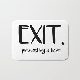 Exit, pursured by a bear - Shakespeare Bath Mat