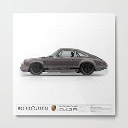 1967 Porsche 912R GRAPHITE BLACK FUCHS Metal Print