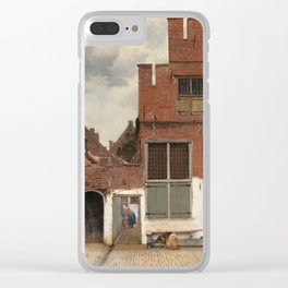 """Johannes Vermeer """"View on Houses in Delft (also known as 'The Little Street')"""" Clear iPhone Case"""