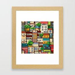 Favela seamless pattern Framed Art Print