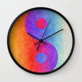 Yin and Yang II Wall Clock