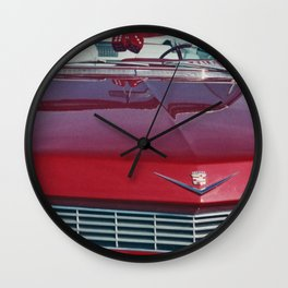 Red Caddy Wall Clock