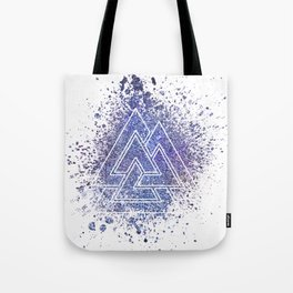 Viking Valknut Space Dust Tote Bag
