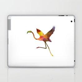 Flamingo 02 in watercolor Laptop & iPad Skin