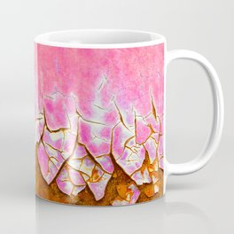 Pink and Rust Coffee Mug