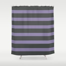 Light Purple Stripes on Gray Background Shower Curtain