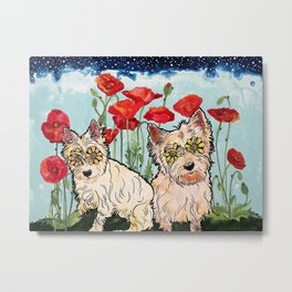 West Highland Terriers by RobiniArt Metal Print