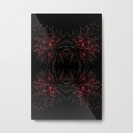 Blooming Red | Fireworks Metal Print