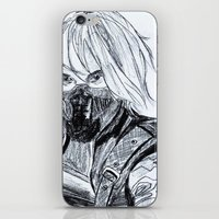 winter soldier iPhone & iPod Skins featuring Winter Soldier  by Pruoviare