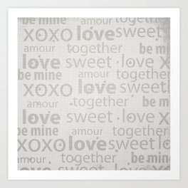 Canvas Design with Endearing Text and a Great Distressed Texture Art Print