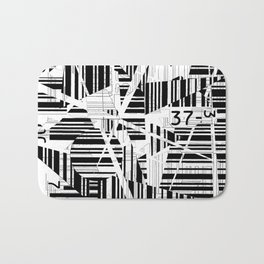 barcode cut Bath Mat