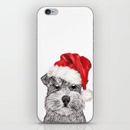 Christmas Schnauzer iPhone Skin