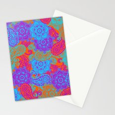 vibrant paisley Stationery Cards