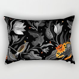 Black Wildness Rectangular Pillow