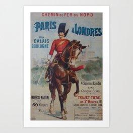 NORD Paris Londres Placard Art Print