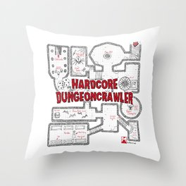 Hardcore Dungeoncrawler Throw Pillow