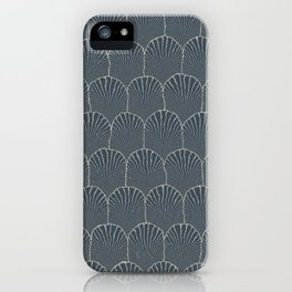 JAPANESE INDIGO: Pattern inspired by Art Deco iPhone Case