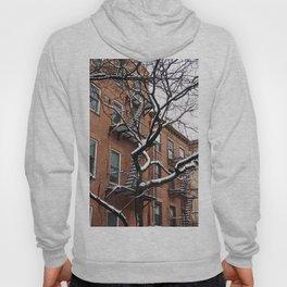Snowy Street of SoHo, NYC 1 Hoody