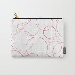 round and round pink Carry-All Pouch