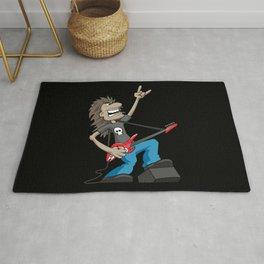 Rock Guitarist Cartoon Rug
