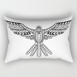 Dove Tribal Tattoo Rectangular Pillow