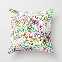 Abstract Microbes Throw Pillow
