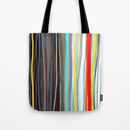 Blue and white stripes blue and white / Handmade colorful stripes Tote Bag