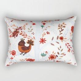 Nina the cat and the chicken Rectangular Pillow