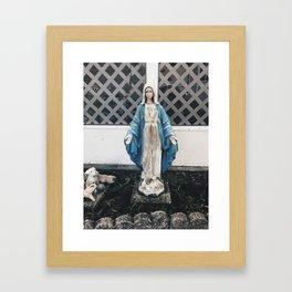 Eerie Mary Framed Art Print