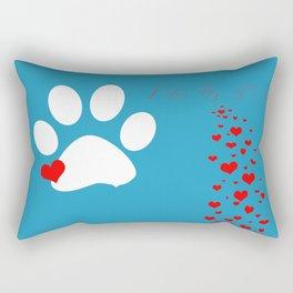 Love my fur baby Rectangular Pillow