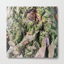 Deeply Green Grooves Metal Print