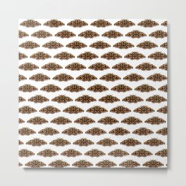 Gold moth Metal Print