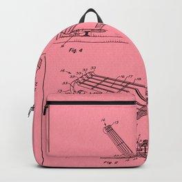 Guitar Patent - salmon Backpack