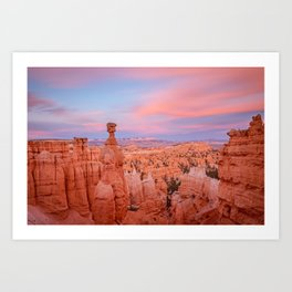 BRYCE CANYON SUNSET UTAH NATIONAL PARK LANDSCAPE PHOTOGRAPHY Art Print