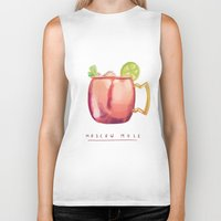 moscow Biker Tanks featuring Moscow Mule by Nan Lawson