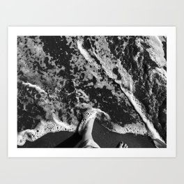 Caressed By The Ocean Art Print