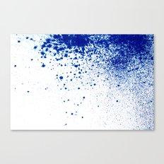 COBALT SPLATTER # 2 Canvas Print