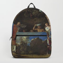 Giovanni Bellini and Titian The Feast of the Gods 1514 1529 Painting Backpack