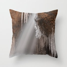 Stream of Frozen Hope Throw Pillow