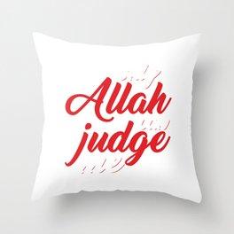 Religion Allah Imam Ali Hussain Hajj Pilgrimage Mecca Gift Only Allah Can Judge Me Throw Pillow