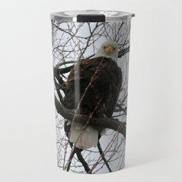 Bald Eagle Stare Down Travel Mug